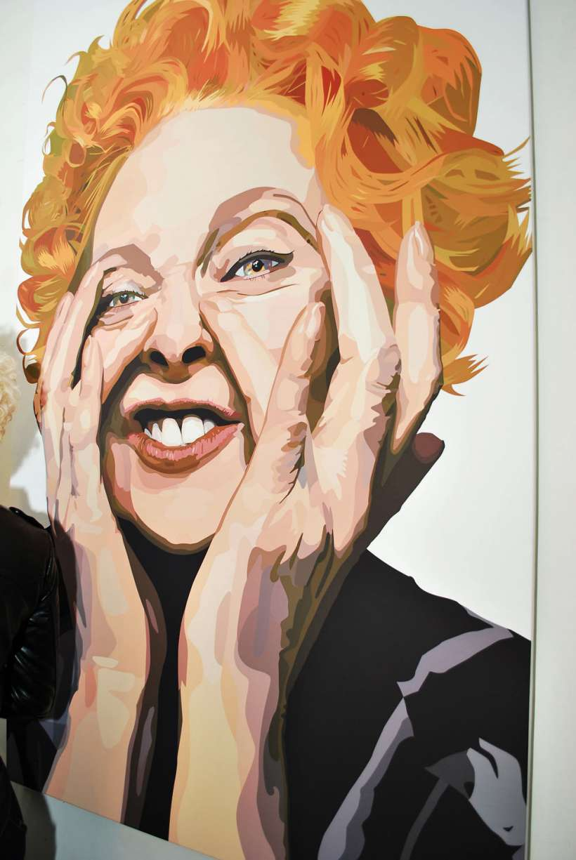 Portrait of Vivienne Westwood by Biagio Black for Ford Models
